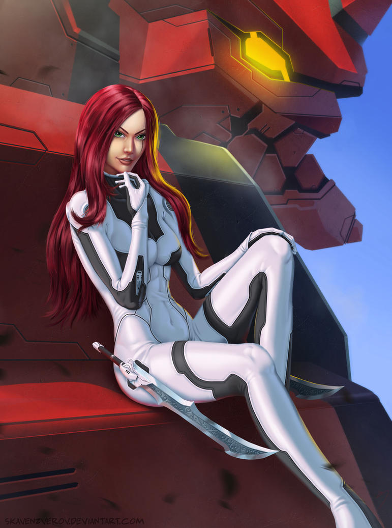 LoL meets Evangelion - Katarina - Fan Art by SkavenZverov