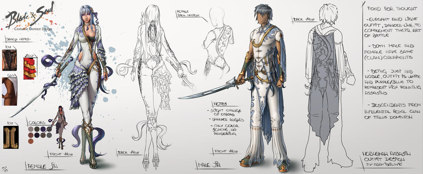 Jin Assassin - Blade And Soul Design Contest by SkavenZverov