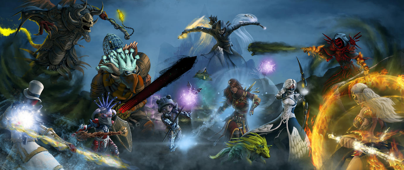 Guild Wars 2 Fan Art - [Crow] Guild WvWvW Group by SkavenZverov