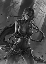 Tanai - Warrior Girl by SkavenZverov