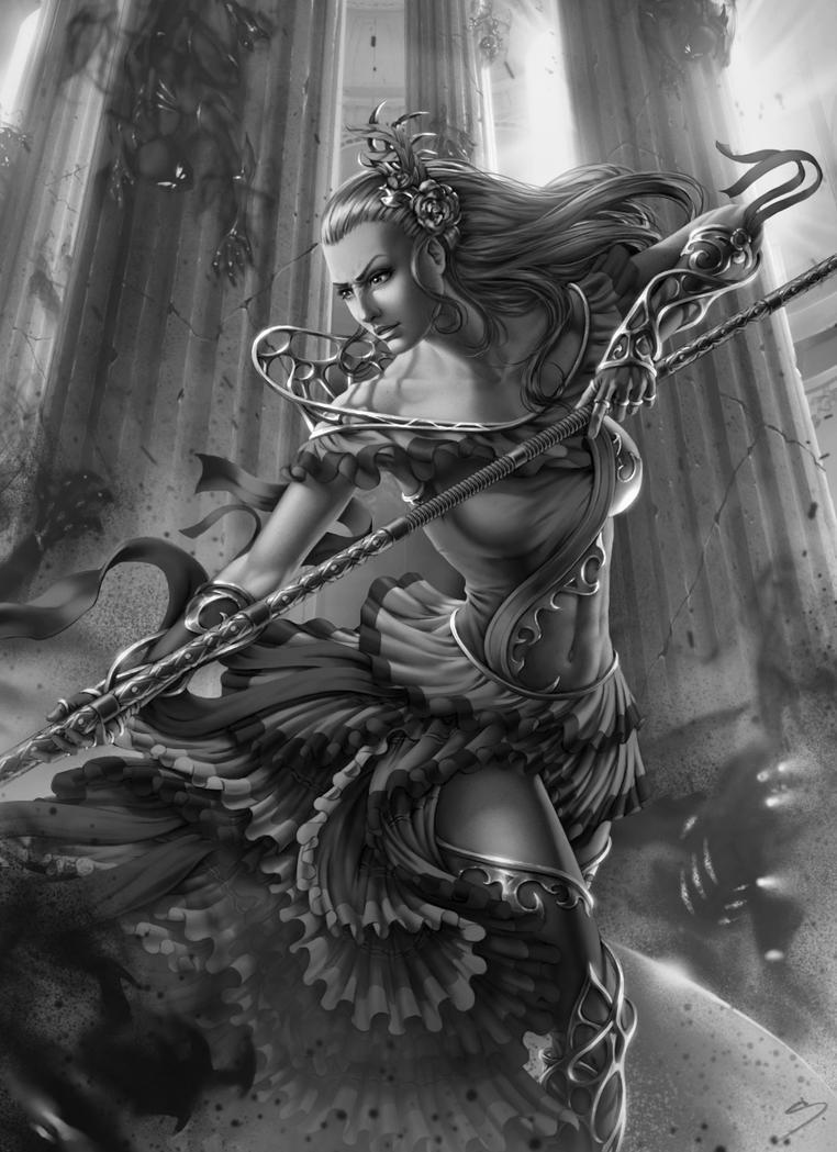 Christina - Battlemage - Values by SkavenZverov