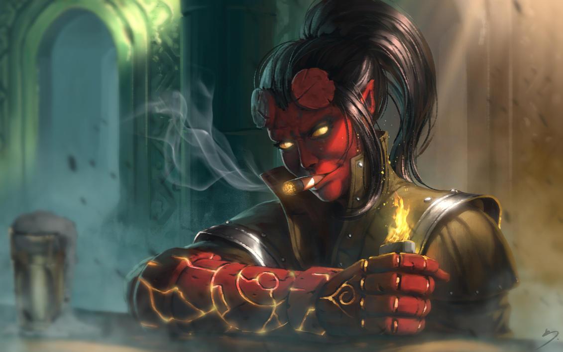 Hellgirl Fan Art by SkavenZverov