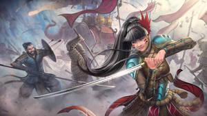Rita - Warrior Girl - Commission by SkavenZverov