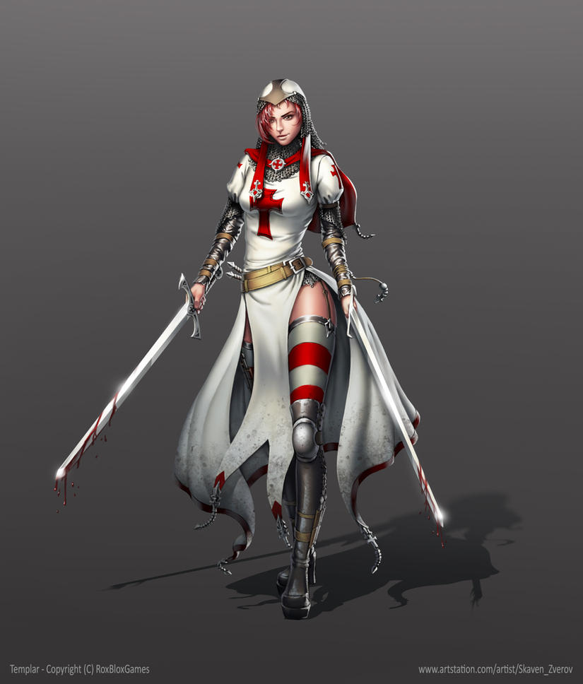 Templar Warrior - Character Concept Art by SkavenZverov