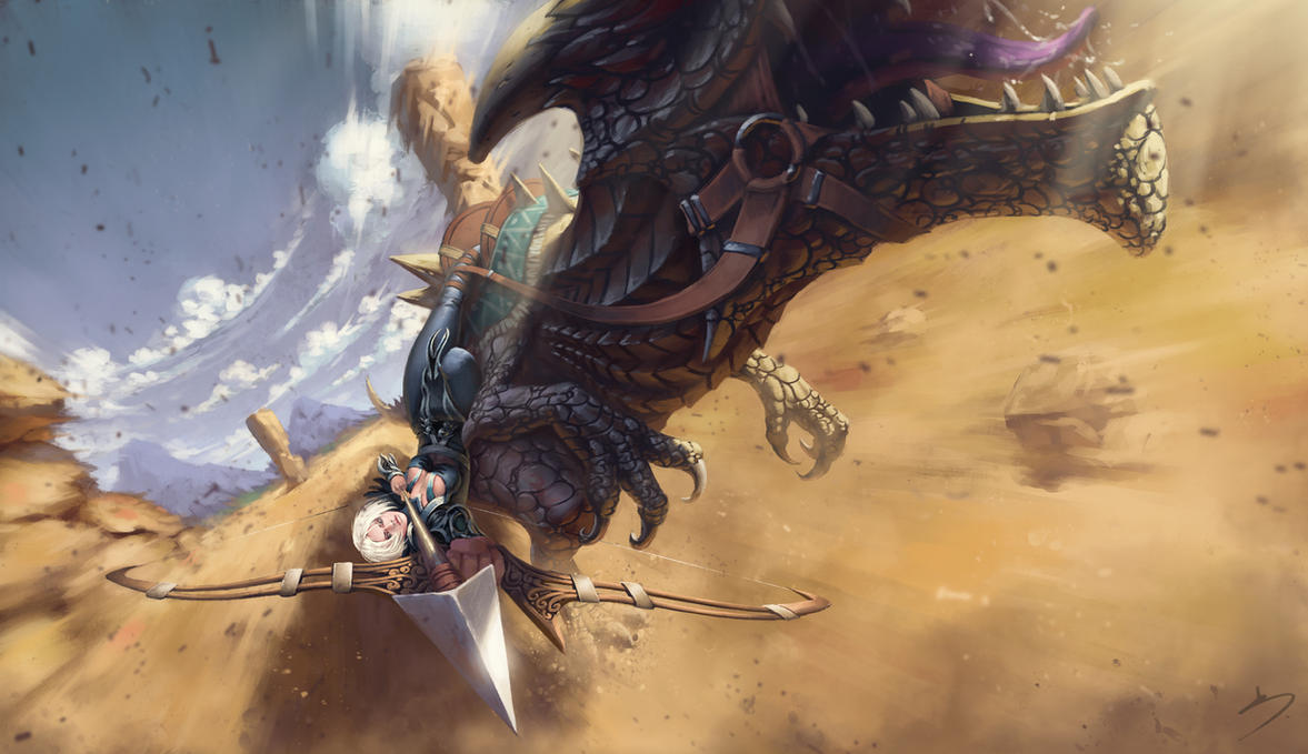 Guild Wars 2 Fan Art - Ranger and Raptor by SkavenZverov