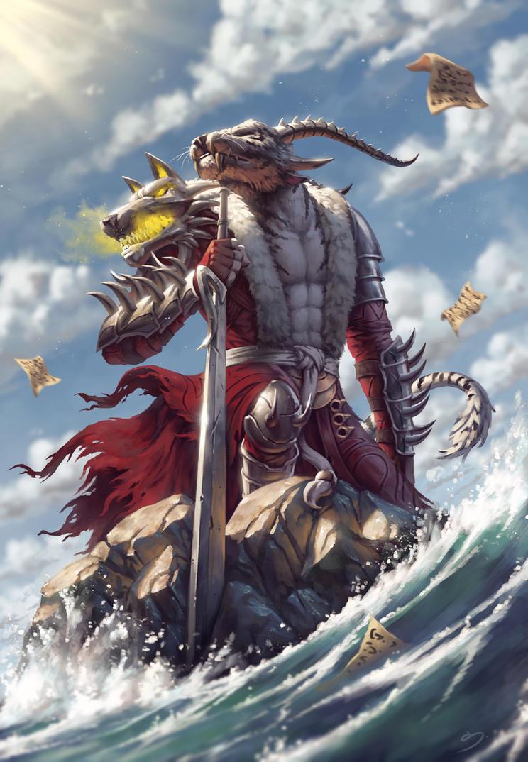Kanneus Nightfarrow - Guild Wars 2 Fan Art by SkavenZverov