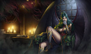 Vampire Evelyn by SkavenZverov