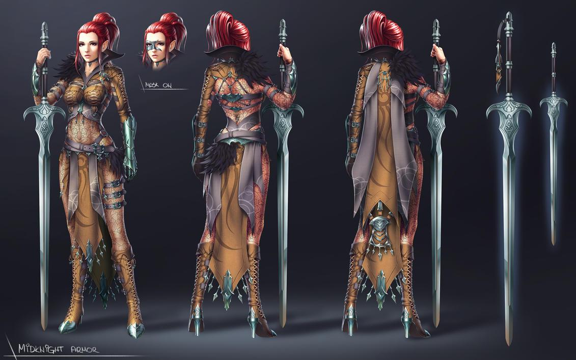 BDO - Costume Contest - Midknight Armor - FInal by SkavenZverov