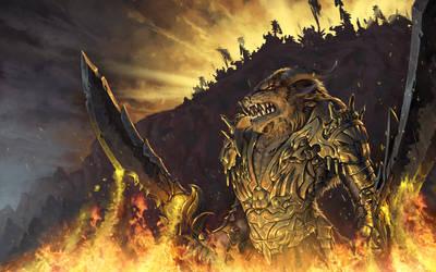 Guild Wars 2 Art - Kraven Steelfang by SkavenZverov