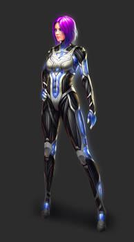 Sci Fi Concept Art - Cyborg Warrior