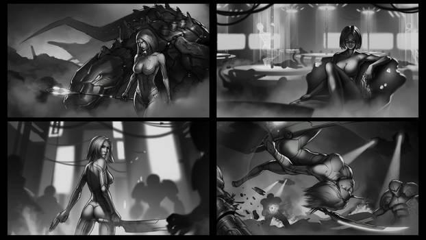 Warrior Sci fi Girl - Vanessa - Concepts by SkavenZverov