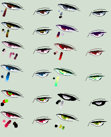 Eye palettes by MissMort-Bases on DeviantArt