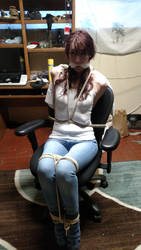 Skinny girl tightly bound and gagged by drewells