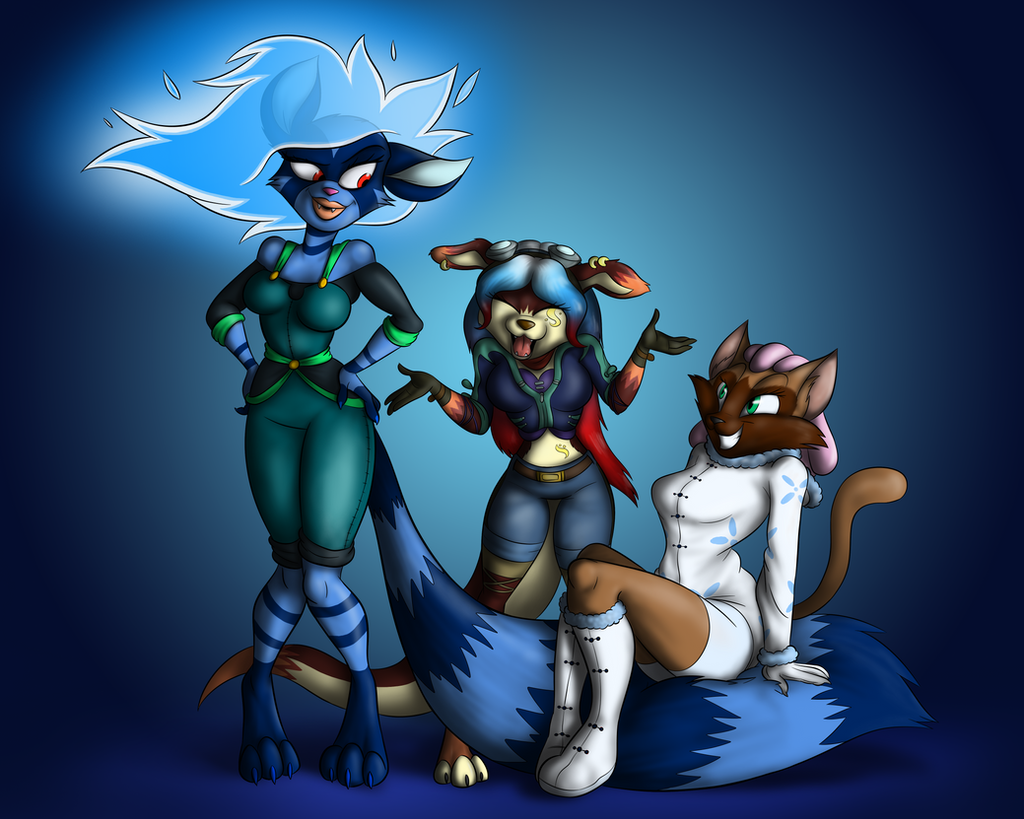 Reather, Nasrin and Cyma (commission) by TonyCrynight
