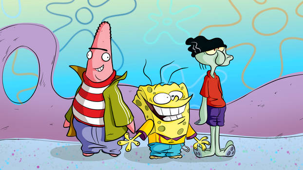 Spongebob as Ed, Edd 'n' Eddy
