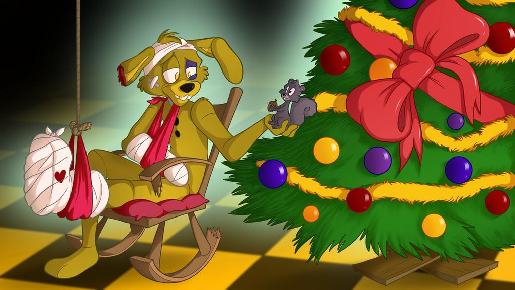 Springtrap's Christmas by TonyCrynight