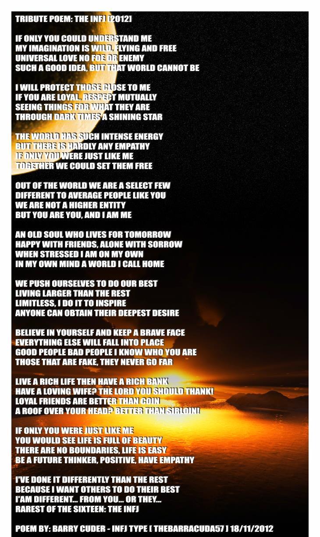 INFJ Poem Poster by TheBarracuda57 on DeviantArt