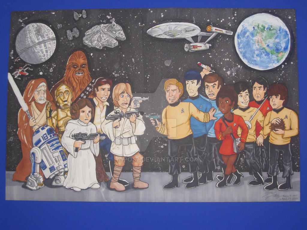 Star Wars Vs Star Trek By Hapo57 On Deviantart