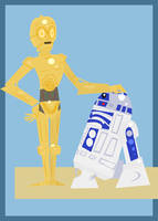 C-3PO and R2-D2 by Hapo57