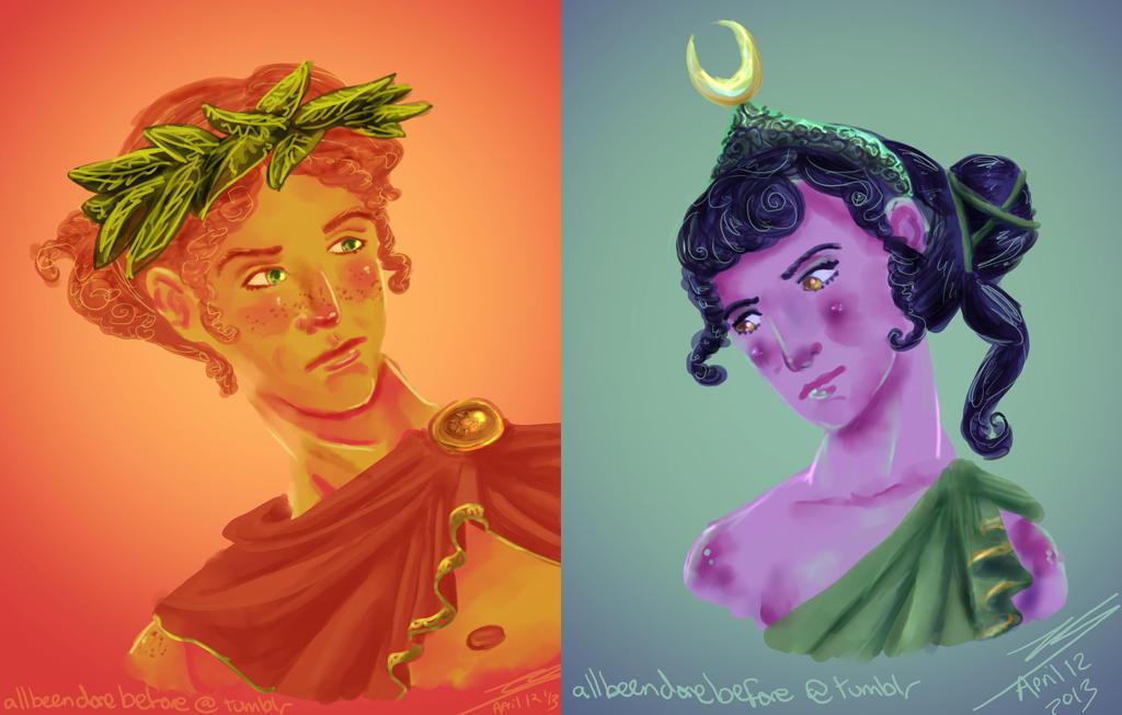 Apollo and Artemis by Hapo57 on DeviantArt