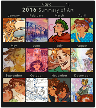 2016 Art Summary by Hapo57