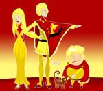 Joffrey, Tommen, and Myrcella