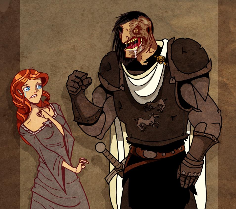 Sansa and The Hound II by Sir-Heartsalot on DeviantArt