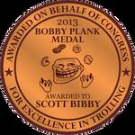The Bobby Plank Medal (2013)