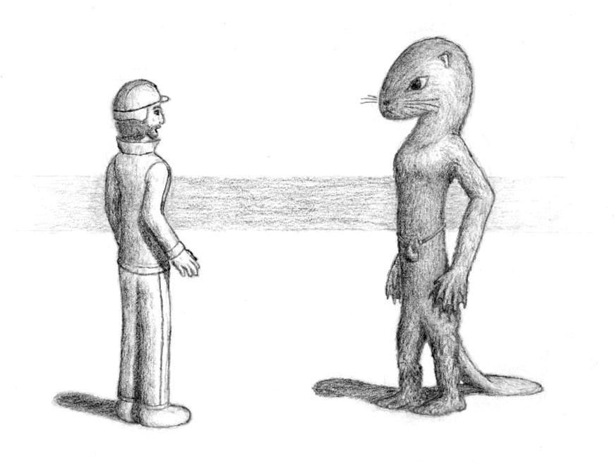 Ransom meets a Hross by Agahnim