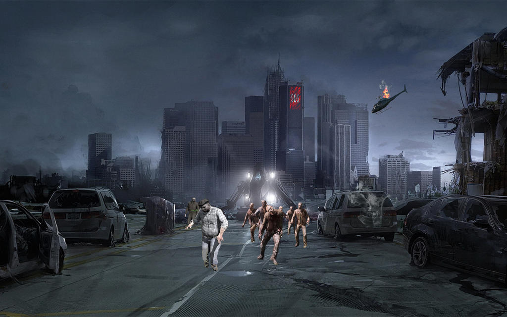 Post-Apocalyptic City After Zombie Virus Outbreak by EclipseEdits ...