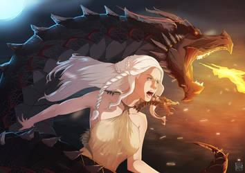 Dragon Queen by NicoFari