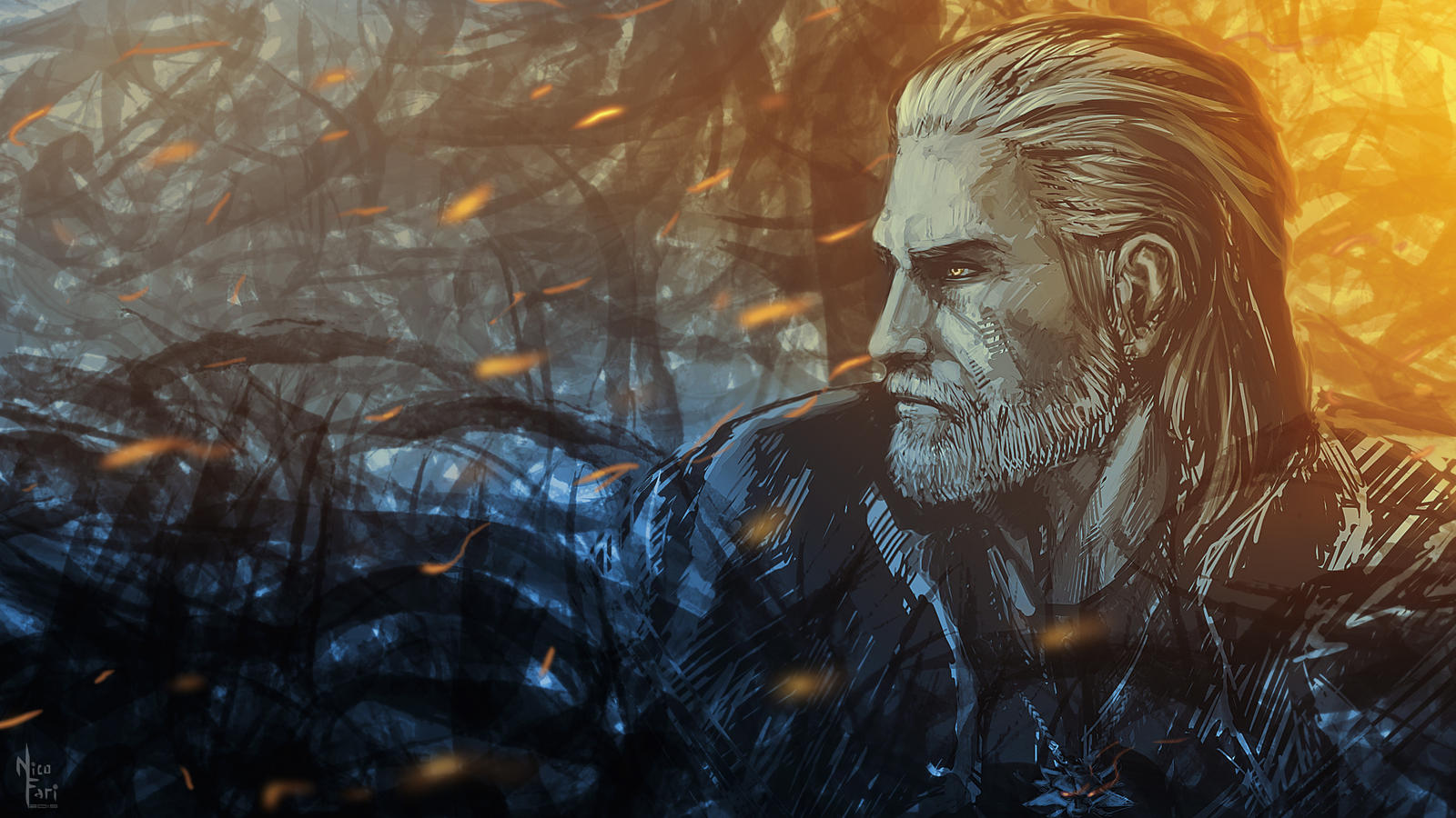 ✮ SPIRIT BRINGERS: THE SIDER STORIES (ANTES LABERINTO DE LA DEMENCIA ☠) - Página 5 Geralt_of_rivia_by_nicofari-d9560kt