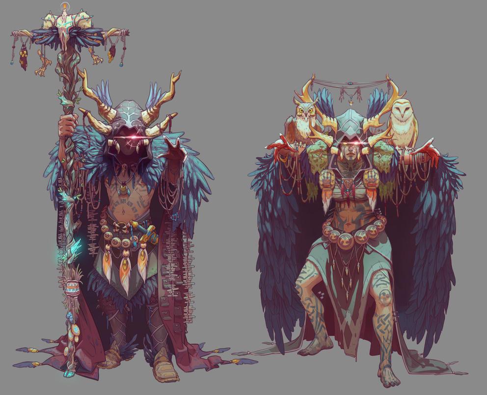 Druid -Female/Male- concept by NicoFari