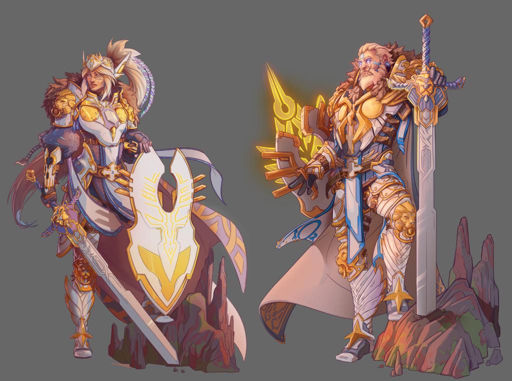 Paladin -Female/Male- concept by NicoFari