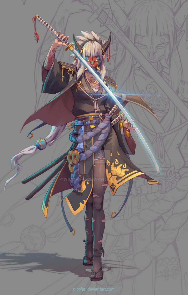 Samurai female concept by NicoFari