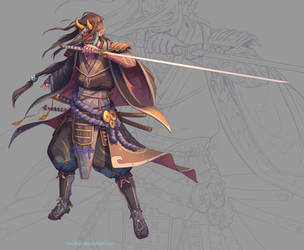 Samurai male by NicoFari
