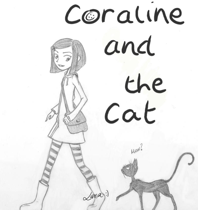 Coraline and the Cat by Silver-Luna on DeviantArt
