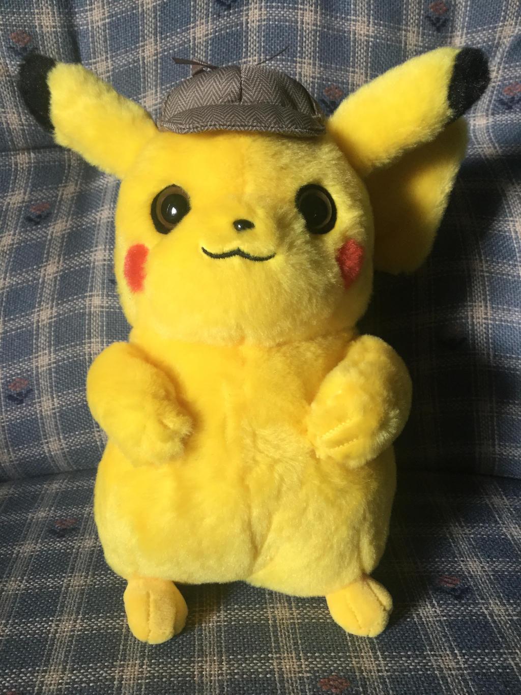 I Got A Detective Pikachu Plushie By Cartoonguy17 On Deviantart