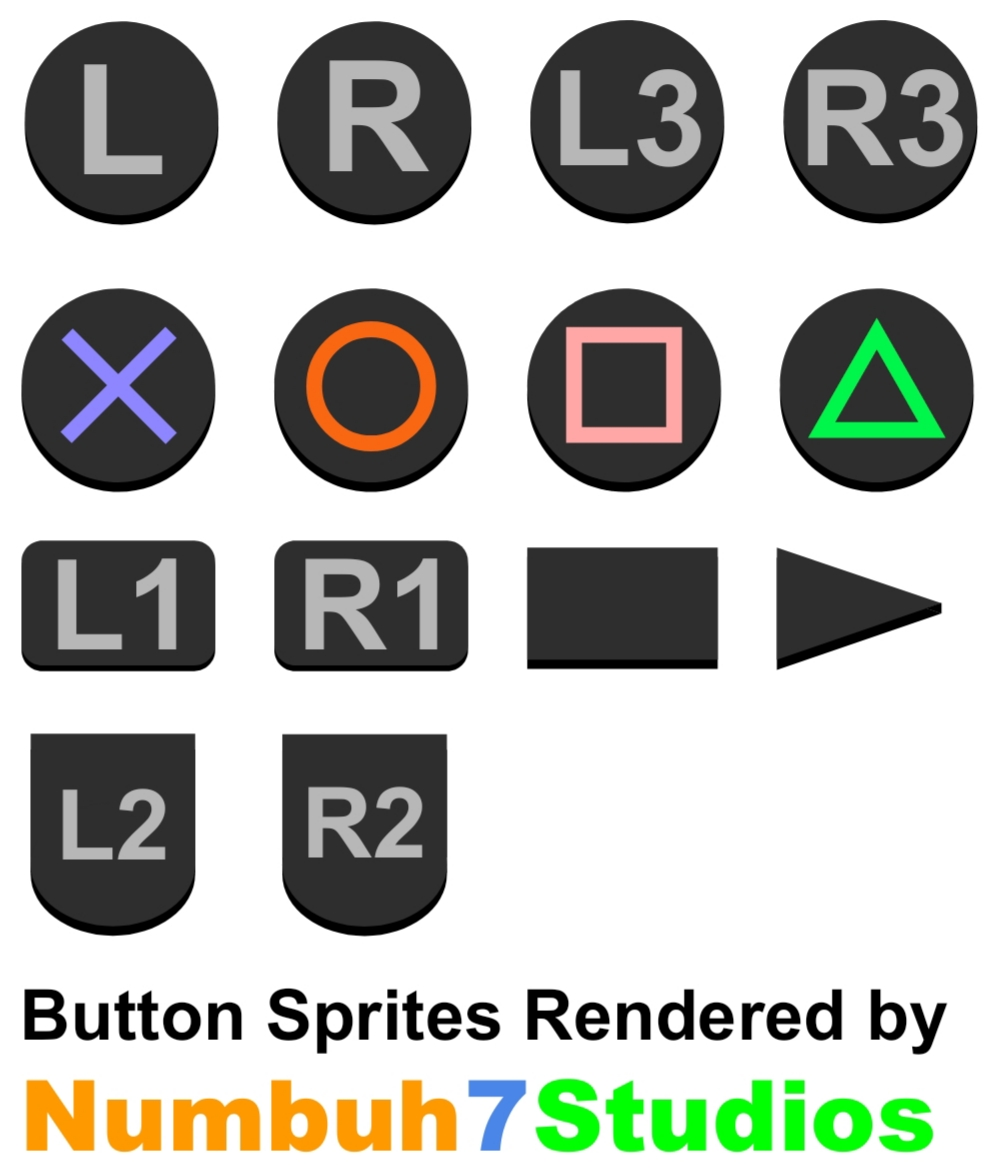 SP:TSoT - PlayStation 3 Buttons Sprite Sheet by