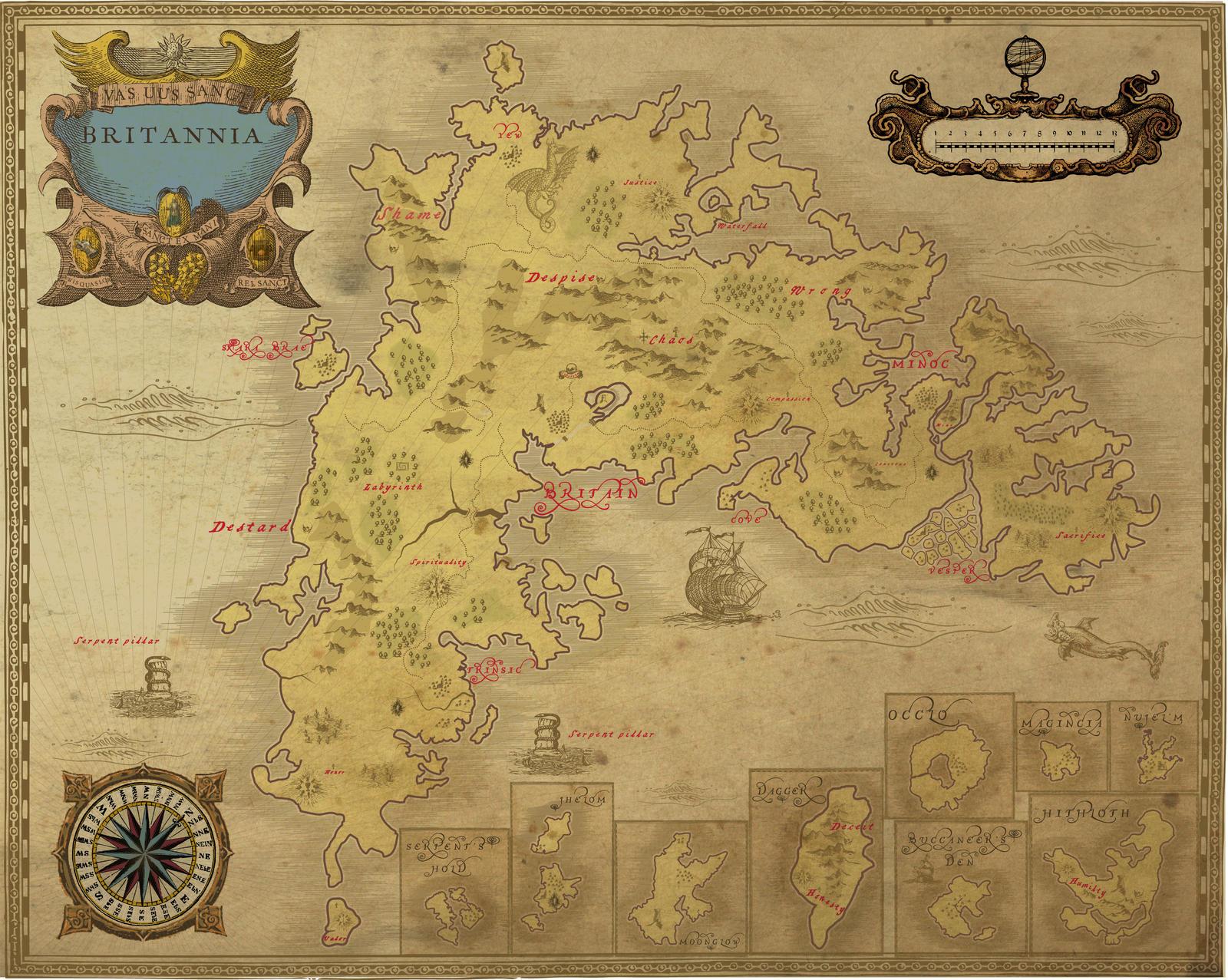 Ancient Ultima online Britannia map