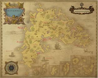 Ancient Ultima online Britannia map by NoxIllunis971