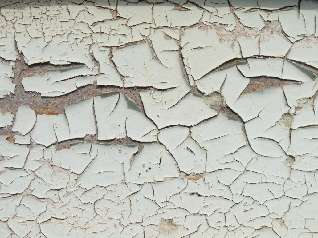 Peeled Paint Chips Door Wood
