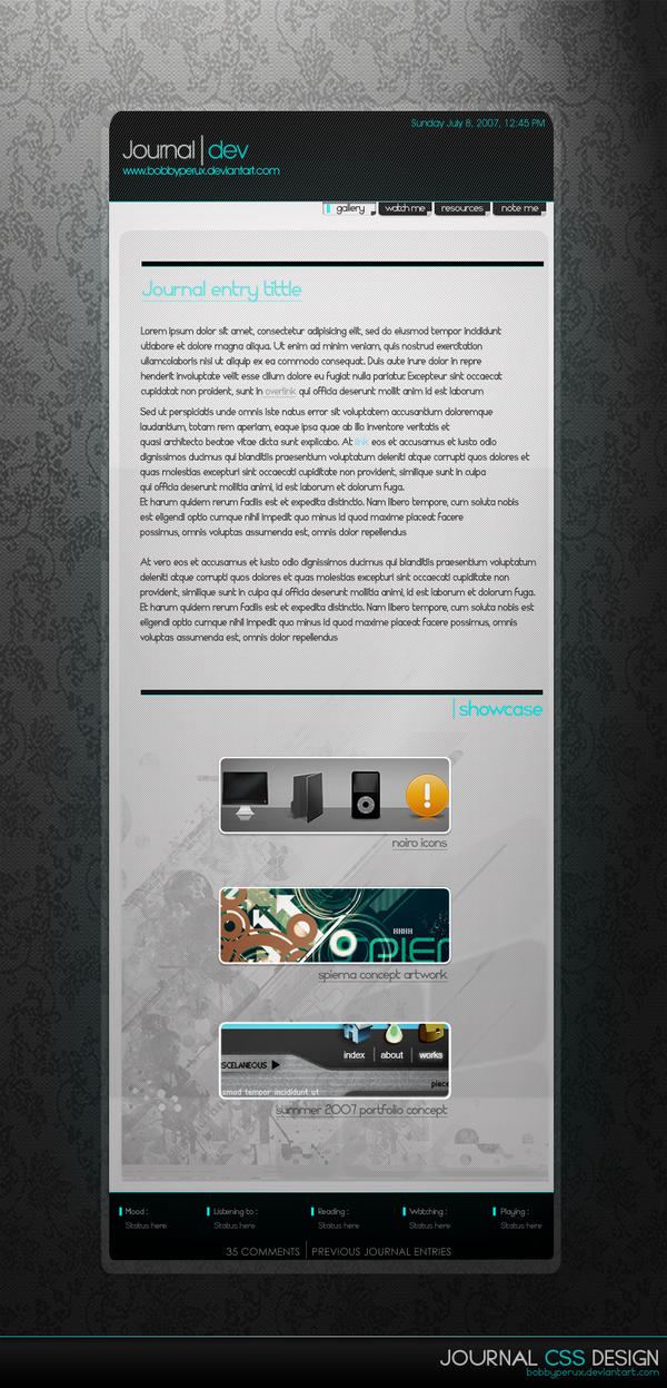 Journal CSS Design by Bobbyperux