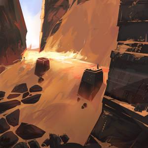 Desert temple concept art