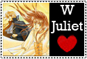 W Juliet love stamp by mayonakaokami