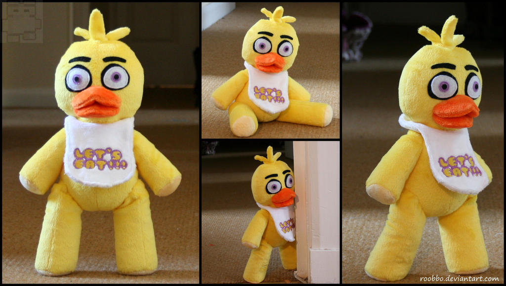 Five nights at freddy s chica plush by roobbo on deviantart
