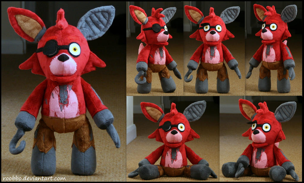 Five nights at freddy old foxy plush by roobbo on deviantart