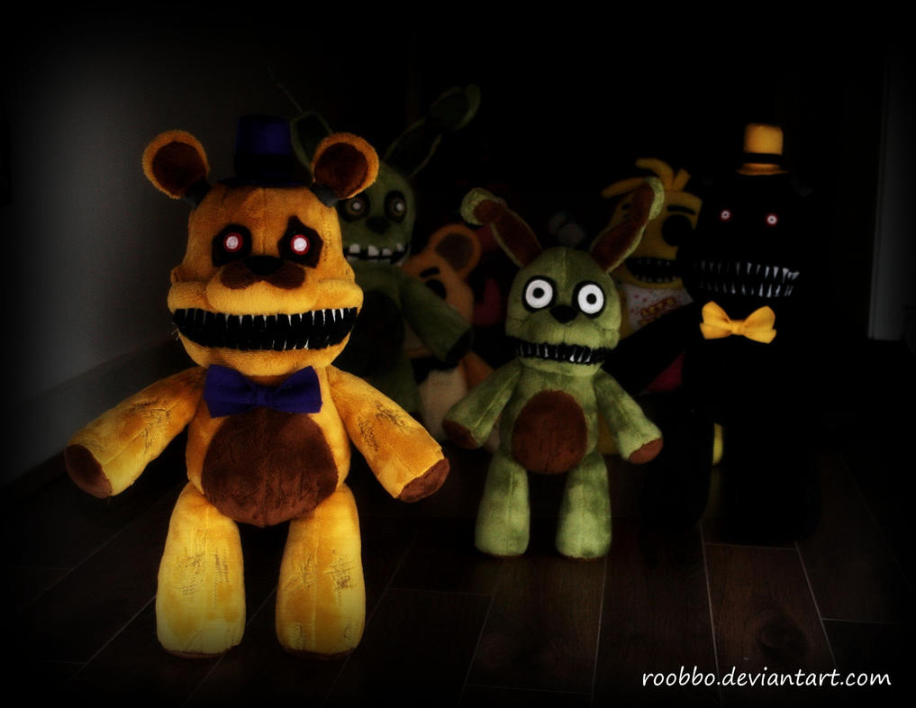 Foxy fredbear freddy plushie scary bonniebunny creepytoy scarytoy fnaf