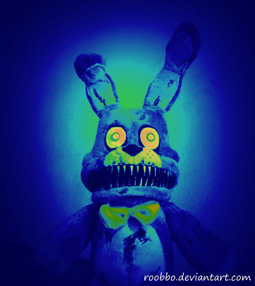 Nightmare Bonnie - Five Nights at Freddy Plush by roobbo
