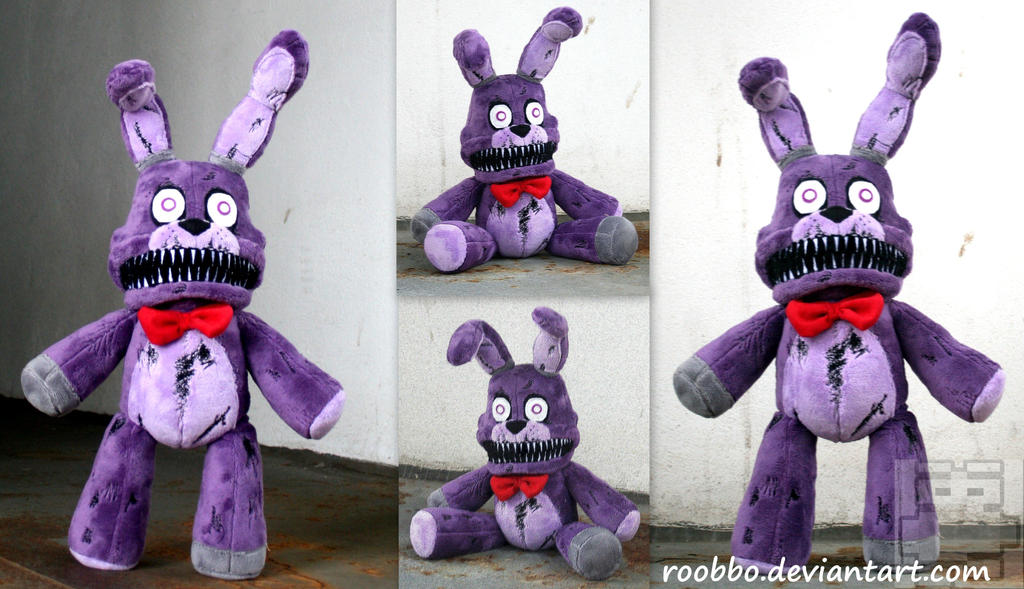 Five Nights at Freddys - Nightmare Bonnie - Plush by roobbo